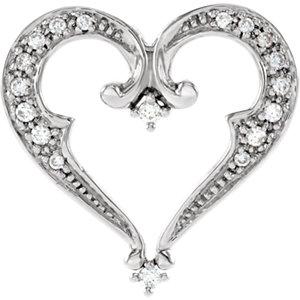 Diamond Heart Pendant Slide