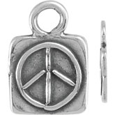 Peace Sign Dangle with Square Frame