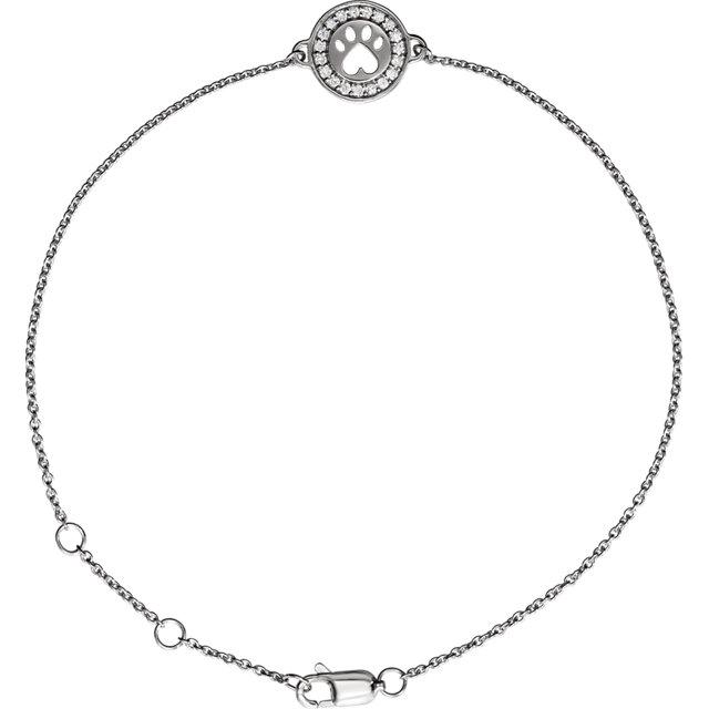 Sterling Silver 1/10 CTW Diamond 7