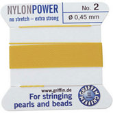 #2 Yellow Nylon (Polyamid) Carded Bead Cord (.45mm)
