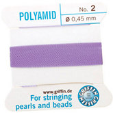 #2 Liliac Nylon (Polyamid) Carded Bead Cord (.45mm)
