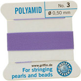 #3 Liliac Nylon (Polyamid) Carded Bead Cord (.50mm)