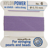 #6 Liliac Nylon (Polyamid) Carded Bead Cord (.70mm)