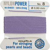 #8 Liliac Nylon (Polyamid) Carded Bead Cord (.80mm)