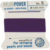 #5 Amethyst Nylon (Polyamid) Carded Bead Cord (.65mm)