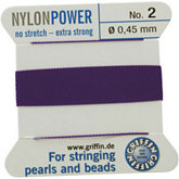 #2 Amethyst Nylon (Polyamid) Carded Bead Cord (.45mm)