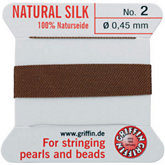 #2 Brown Silk Bead Cord (.45mm)