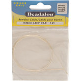 Beadalon® Silver Plated Jewelry Cable .036