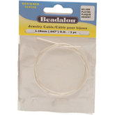 Beadalon® Silver Plated Jewelry Cable .047