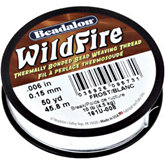 Beadalon Wildfire White Thread .15mm,45meters Spool
