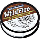 Beadalon Wildfire White Thread .20mm,45meters Spool