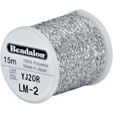 Beadalon Silver Poly Sparkle Thread