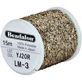 Beadalon Gold Poly Sparkle Thread
