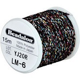 Beadalon Black Poly Sparkle Thread