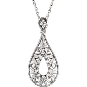 Filigree Design Diamond Necklace