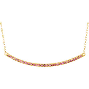 Gemstone or Diamond Bar Necklace