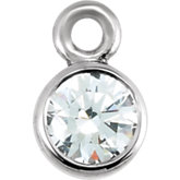 Diamond Micro Bezel Dangle or Mounting