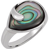 Genuine Abalone Ring