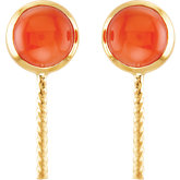 Genuine Coral Semi-mount Earrings