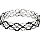 5 9/10 CTW Black & White Diamond Bracelet