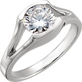 Round Solitaire Engagement Ring or Band Mounting