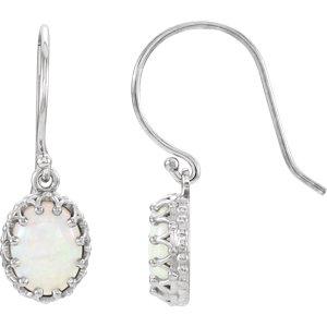 Oval Crown Design Gemstone Earrings or Mounting