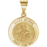 Hollow Round St. George Medal
