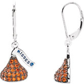 HERSHEY'S KISSES® Flat Back Cubic Zirconia Birthstone Lever Back Earrings