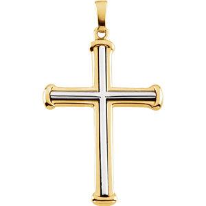 Two Tone Cross Pendant