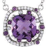 Gemstone & Diamond Necklace or Pendant Mounting