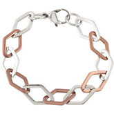 Amalfi™ Chocolate or Gold Immersion Plated Stainless Steel Link Bracelet