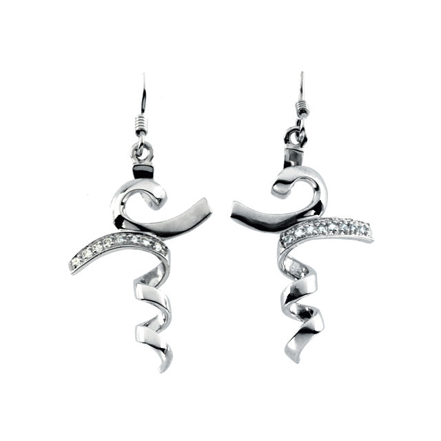 Sterling Silver I Stand in Awe™ Cubic Zirconia Earrings