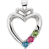 Heart Pendant Mounting for Mother