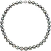Round/Semi Round Graduated Grey Tahitian Cultured Pearl Strand