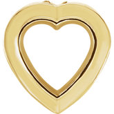 Heart Bezel-Set Chain Slide Mounting