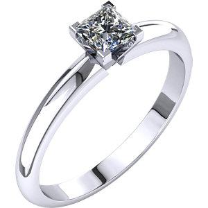 Diamond Princess V-Prong 4-Prong Engagement Ring or Mounting