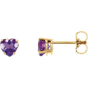 Gemstone Heart Earrings