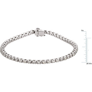 14K White 2 1/5 CTW Diamond Line Bracelet