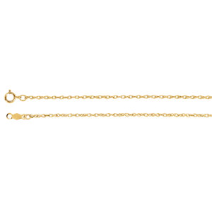 Lasered Titan Gold™ Rope Chain 1.25mm