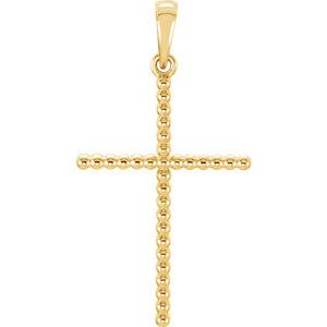 Cross Beaded Design Pendant