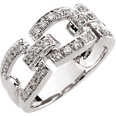 1/3 ct tw Link-Style Diamond Band