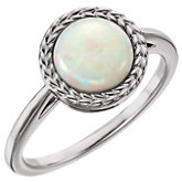 Opal Leaf Design Ring or Mounting