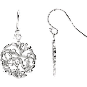 Frosty Flower Dangle Earrings