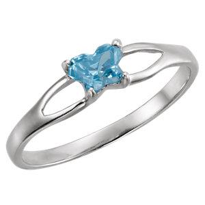Sterling Silver Bfly® December AZ Birthstone Ring