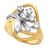 Accented Cluster Ring Mounting