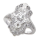 Filigree Solitaire Ring Mounting