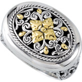 Filigree Design Ring with 18KY Accents
