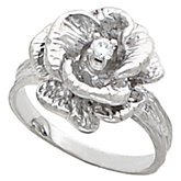 Rose Flower Ring Mounting