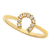 Women's Horseshoe Ring Mounting