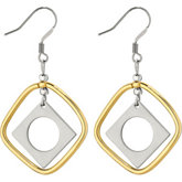 Amalfi™ Stainless Steel Diamond Shape Drop Earrings with Immerse Plating